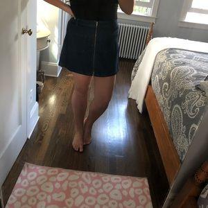 Madewell full zip mini skirt
